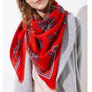 Loft floral paisley scarf